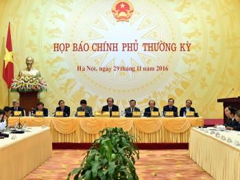 noi dung hop bao chinh phu thuong ky thang 11