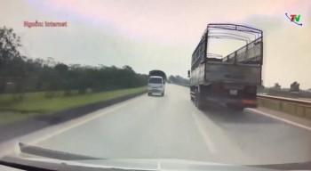 Xử lý nghiêm 2 lái xe điều khiển xe đi ngược chiều trên cao tốc