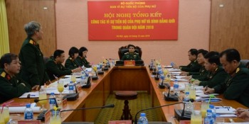 tong ket cong tac vi su tien bo cua phu nu va binh dang gioi trong quan doi nam 2018