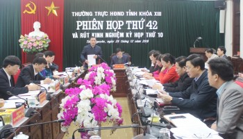 phien hop thu 42 thuong truc hdnd tinh thai nguyen khoa xiii