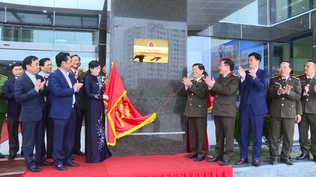 Công an tỉnh Thái Nguyên tổ chức Lễ gắn biển Công trình Trụ sở làm việc mới