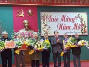 Đồng chí Bí thư Tỉnh ủy gặp mặt chúc tết Cán bộ hưu trí Tỉnh ủy Thái Nguyên