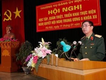 Học viện Quốc phòng tổ chức Hội nghị học tập, quán triệt, triển khai thực hiện Nghị quyết Hội nghị Trung ương 6, Khóa XII