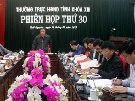 phien hop thu 30 thuong truc hdnd tinh thai nguyen khoa xiii