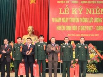 Định Hóa: Kỷ niệm 70 năm Ngày truyền thống Lực lượng vũ trang