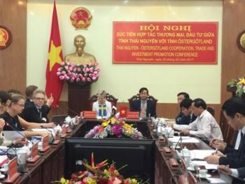 Đoàn công tác Thụy Điển làm việc tại Thái Nguyên