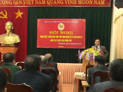 Hội Cựu chiến binh tỉnh Thái Nguyên tập huấn Nghị định số 157/2016 của Chính phủ