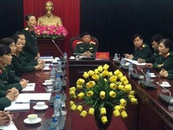 Thủ trưởng Tổng cục Chính trị gặp mặt Đoàn đại biểu Phụ nữ Quân đội