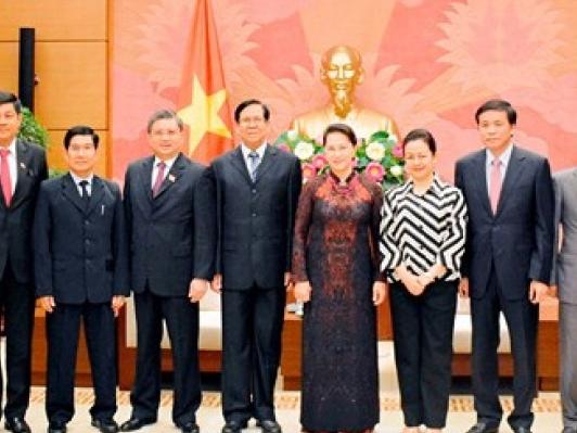 Chủ tịch Quốc hội tiếp xã giao Phó Chủ tịch Quốc hội Myanmar