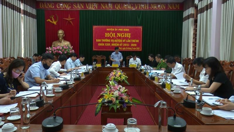 hoi nghi ban thuong vu huyen uy phu binh lan thu 8 nhiem ky 2015 2020