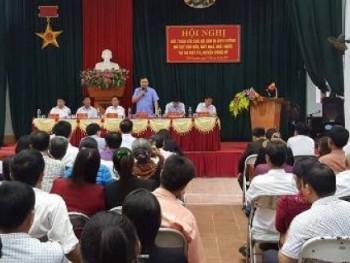 Hội nghị đối thoại với các hộ dân bị ảnh hưởng sụt lún, nứt nhà, mất nước ở xã Cây thị Và Trại Cau