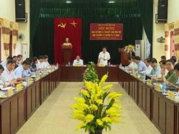 Ban Thường vụ tỉnh ủy làm việc với Ban Thường vụ huyện ủy Võ Nhai