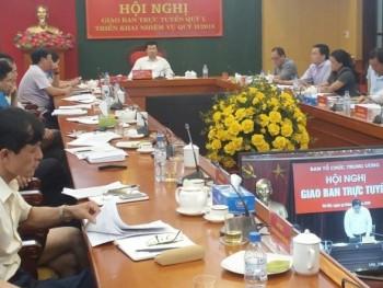 Ban tổ chức Trung ương giao ban trực tuyến công tác tổ chức xây dựng Đảng