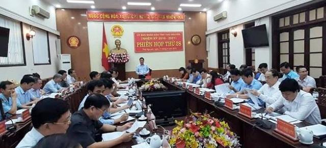 phien hop thu 28 cua ubnd tinh thai nguyen nhiem ky 2016 2021