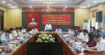 Hội nghị Ban Thường vụ Tỉnh ủy lần thứ 46, khóa XIX, tháng 5/2019