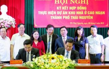 Ký kết hợp đồng thực hiện đầu tư Dự án Khu nhà ở Cao Ngạn, thành phố Thái Nguyên