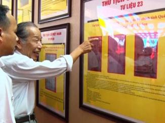 Quảng Bình tổ chức triển lãm quần đảo Hoàng Sa, Trường Sa