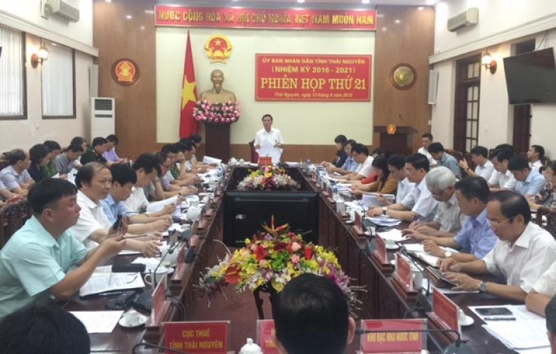 phien hop thu 21 ubnd tinh thai nguyen