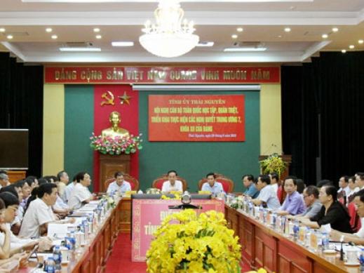 Hội nghị cán bộ toàn quốc học tập, quán triệt, triển khai Nghị quyết Hội nghị lần thứ 7, Ban Chấp hành Trung ương Đảng, khóa XII