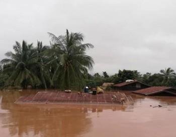 Lãnh đạo Đảng, Nhà nước gửi điện thăm hỏi về vỡ đập thủy điện ở Lào