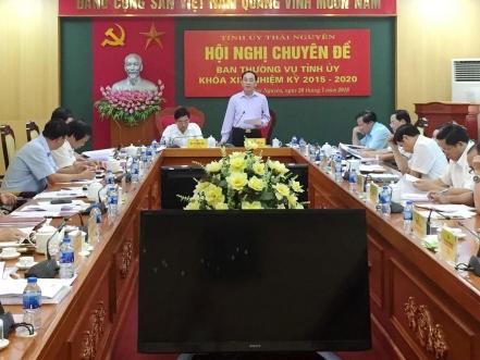 hoi nghi chuyen de ban thuong vu tinh uy thai nguyen khoa xix nhiem ky 2015 2020