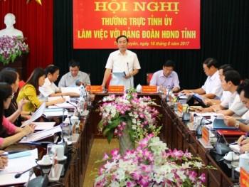 Thường trực Tỉnh ủy làm việc với Đảng đoàn Hội đồng nhân dân tỉnh