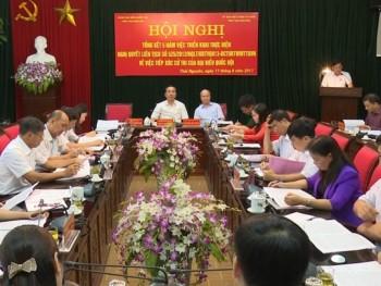 Tổng kết 5 năm thực hiện Nghị quyết 525 về việc tiếp xúc cử tri của đoàn Đại biểu Quốc hội tỉnh Thái Nguyên