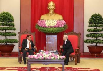 Tổng Bí thư, Chủ tịch nước tiếp Tổng Bí thư, Chủ tịch nước Lào
