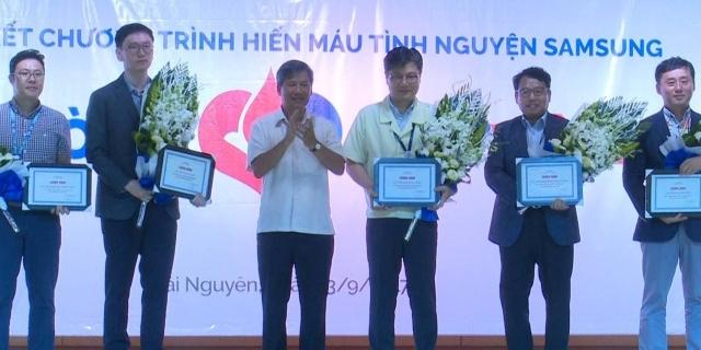 Samsung Việt Nam tổng kết chương trình hiến máu tình nguyện năm 2017