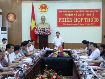 ubnd tinh thai nguyen hop phien toan the lan thu 15