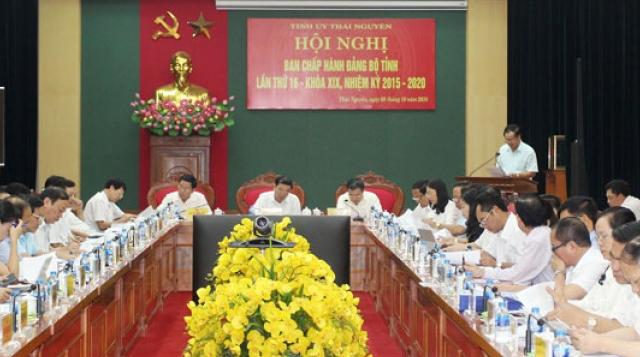 hoi nghi ban chap hanh dang bo tinh thai nguyen lan thu 16 khoa xix nhiem ky 2015 2020