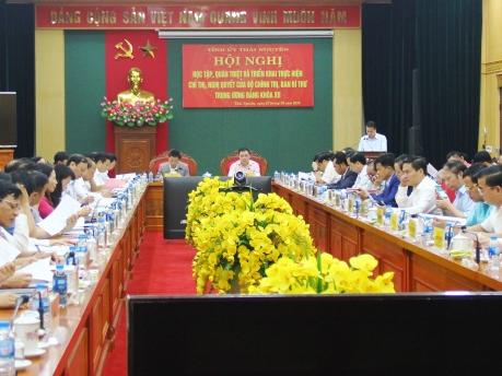 Hội nghị học tập và quán triệt triển khai thực hiện các Chỉ thị, Nghị quyết