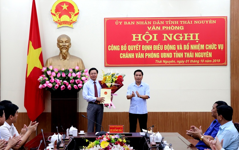 cong bo quyet dinh bo nhiem chanh van phong ubnd tinh thai nguyen