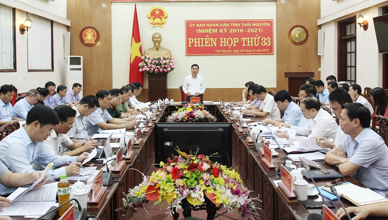 phien hop lan thu 33 cua ubnd tinh thai nguyen cho y kien vao nhieu noi dung quan trong