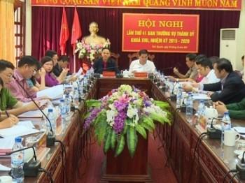 Hội nghị Ban Thường vụ Thành ủy Thái Nguyên lần thứ 41