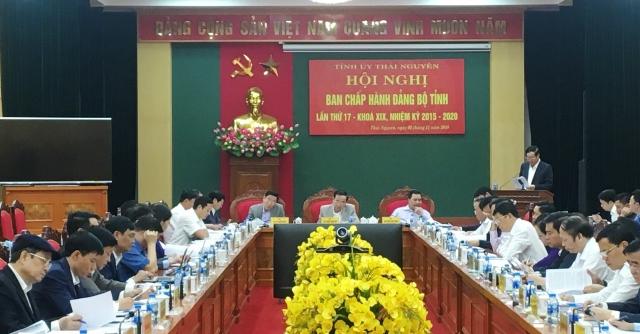 hoi nghi ban chap hanh dang bo tinh thai nguyen lan thu 17 khoa xix nhiem ky 2015 2020