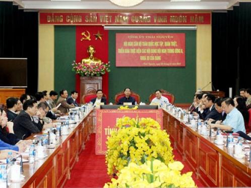Hội nghị cán bộ toàn quốc học tập, quán triệt, triển khai thực hiện các nội dung của Hội nghị Trung ương tám, khóa XII của Đảng