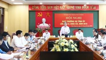 Hội nghị Ban Thường vụ Tỉnh ủy Thái Nguyên lần thứ 53, khóa XIX