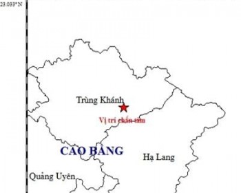 dong dat 54 do richter o cao bang