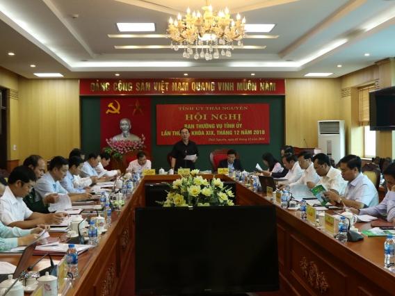 Hội nghị Ban Thường vụ Tỉnh ủy Thái Nguyên tháng 12 năm 2018