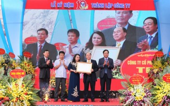 cong ty co phan dau tu xay dung va khai thac khoang san thang long don nhan bang khen cua thu tuong chinh phu