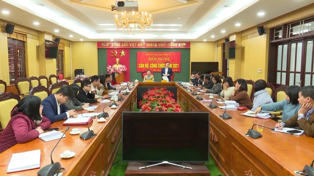 Ban Tuyên giáo Tỉnh ủy Thái Nguyên quyết tâm hoàn thành các nhiệm vụ trong năm 2021