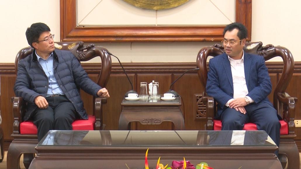Lãnh đạo tỉnh làm việc với doanh nghiệp Hàn Quốc