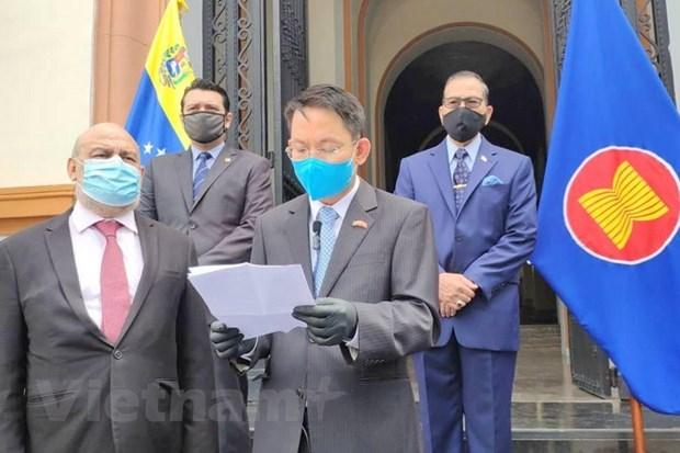 Chuyển giao chức Chủ tịch Ủy ban ASEAN tại Caracas cho Indonesia