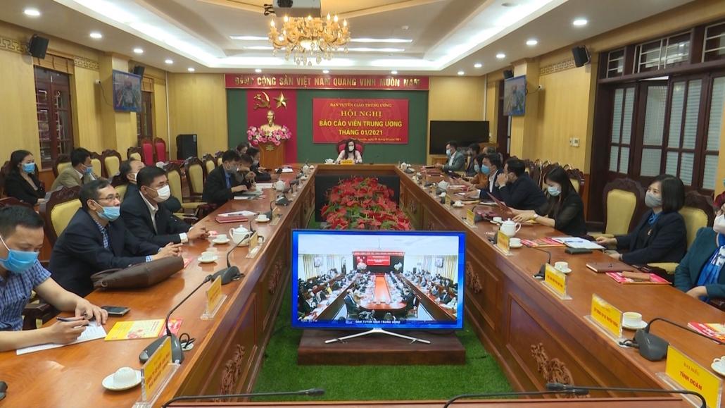 Hội nghị trực tuyến báo cáo viên Trung ương tháng 1/2021
