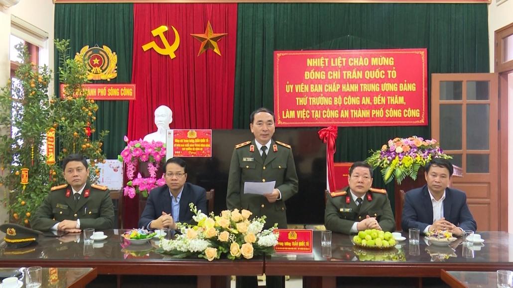 Đồng chí Thứ trưởng Bộ Công an làm việc tại tỉnh Thái Nguyên