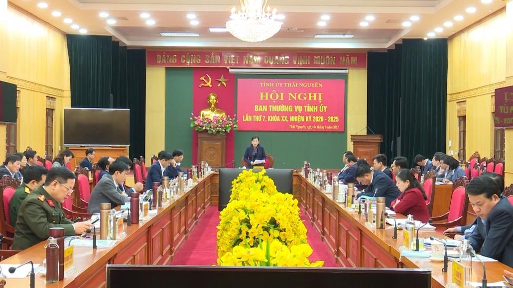 Hội nghị Ban Thường vụ Tỉnh ủy lần thứ 7, khóa XX