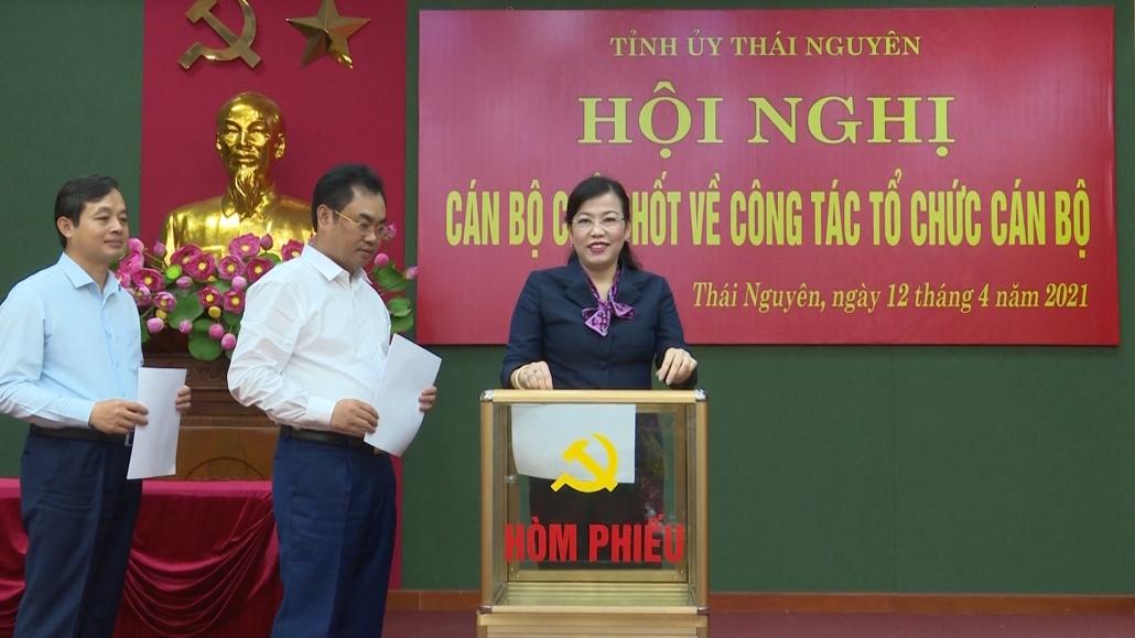 Thái Nguyên thực hiện quy trình về công tác cán bộ