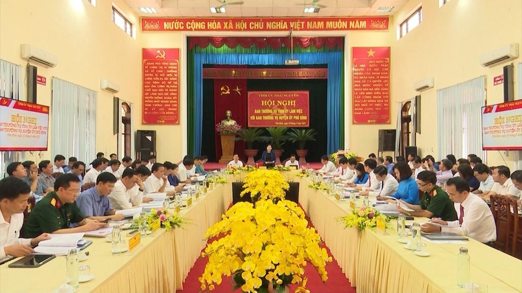 Tập trung các nguồn lực xây dựng huyện Phú Bình trở thành thị xã vào năm 2025