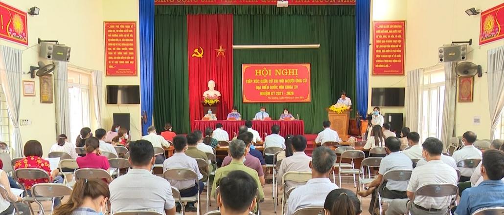 Hội nghị tiếp xúc giữa cử tri với người ứng cử đại biểu Quốc hội khóa XV